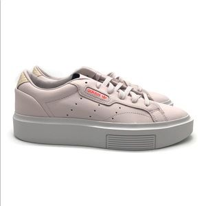 Women's Adidas SLEEK SUPER W White Pink Orange